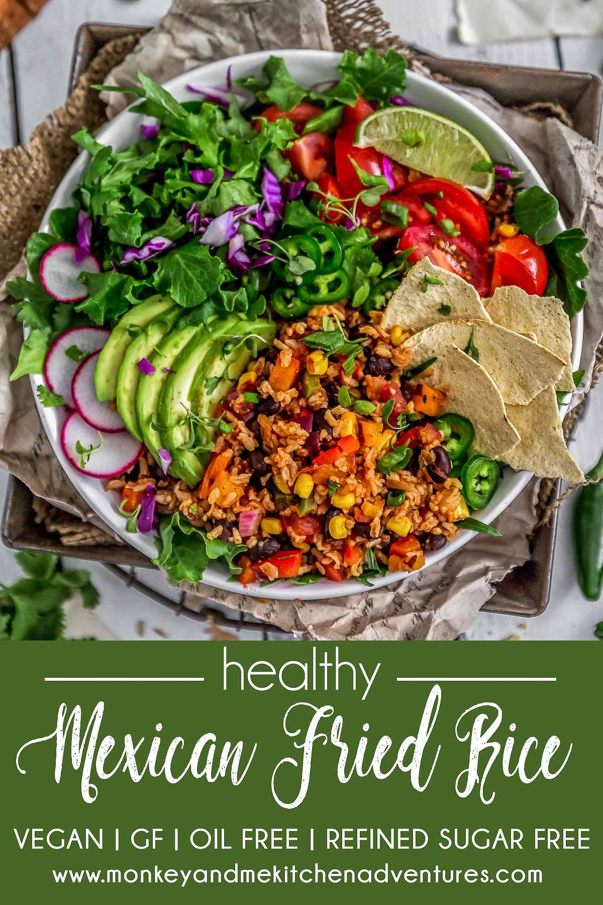 Healthy Mexican Fried Rice Monkey And Me Kitchen Adventures Recipe Whole Food Recipes Healthy Mexican Delicious Healthy