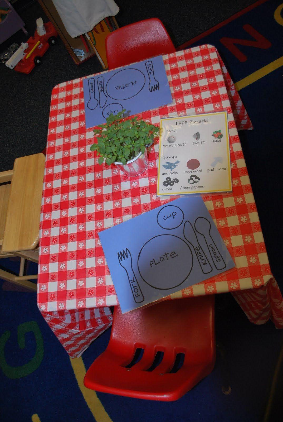 Laguna Preschool Curriculum Restaurant Imaginary Play