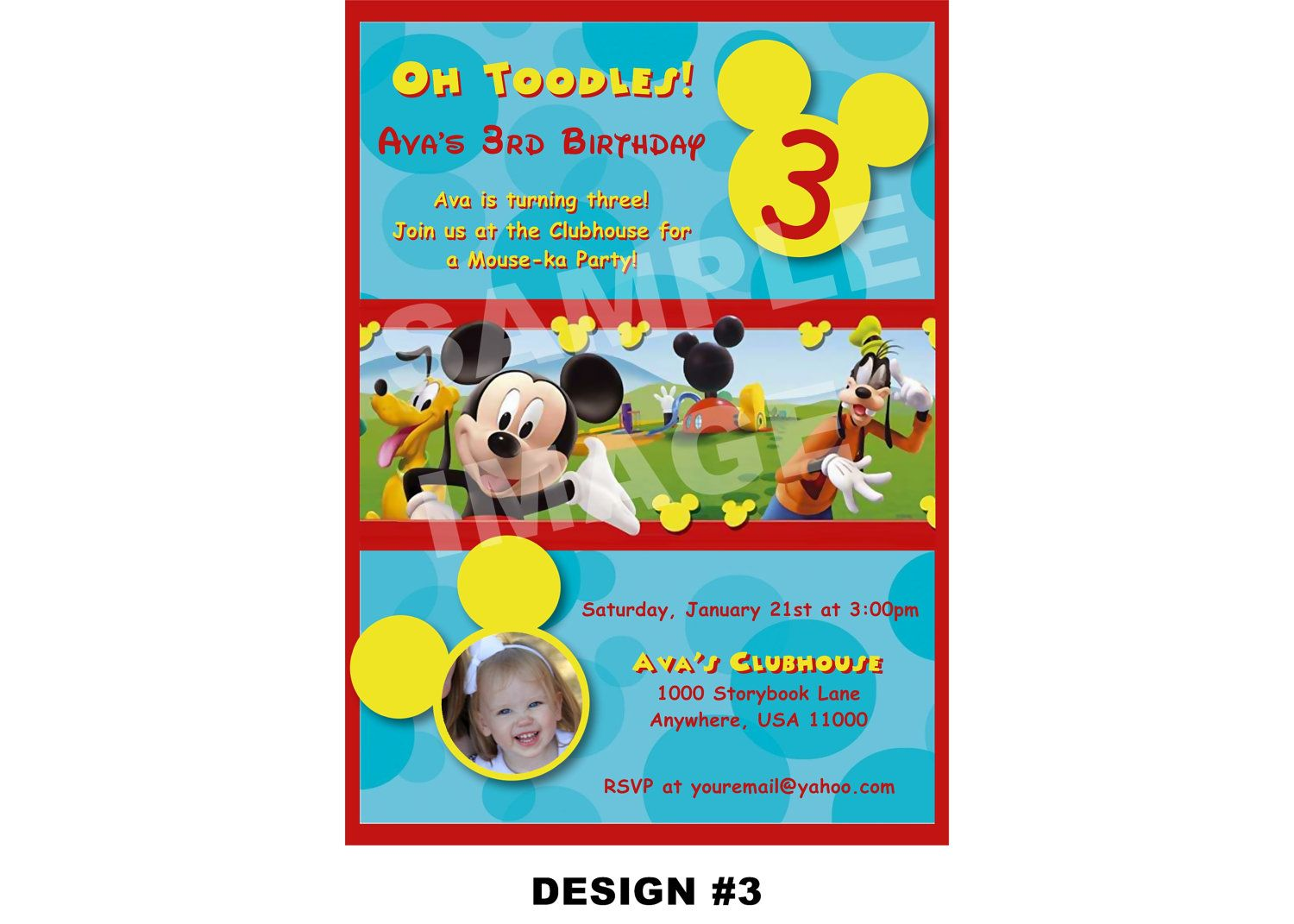 Mickey Mouse Clubhouse Invitation - Birthday Party Printable ...
