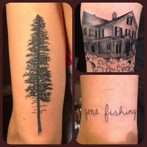 ponderosa pine silhouette google search tattoo