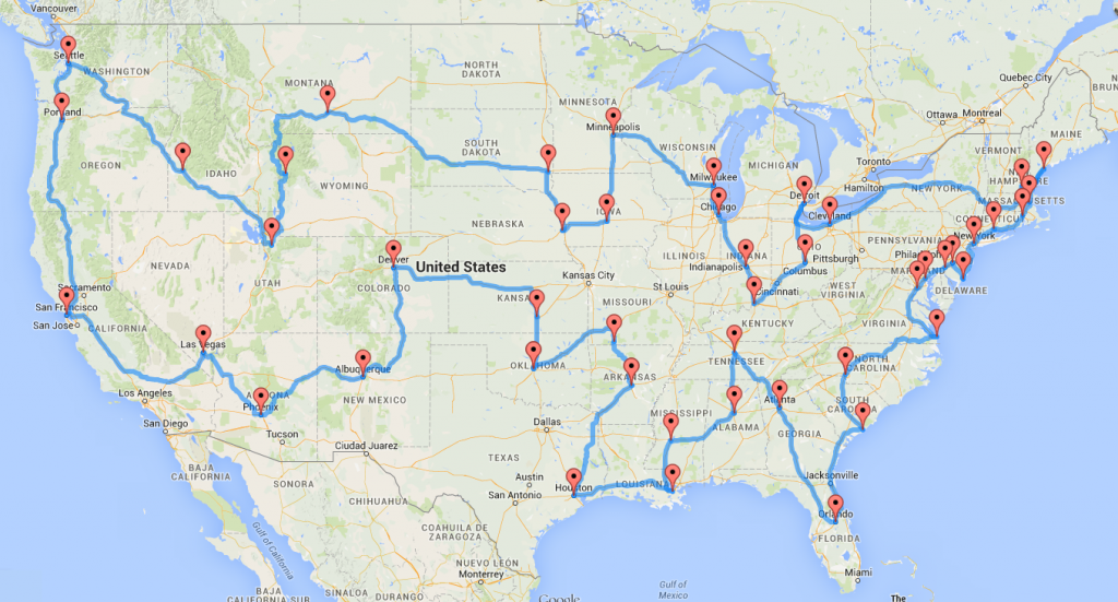 Best US road trip popular cities And if youd like to customize