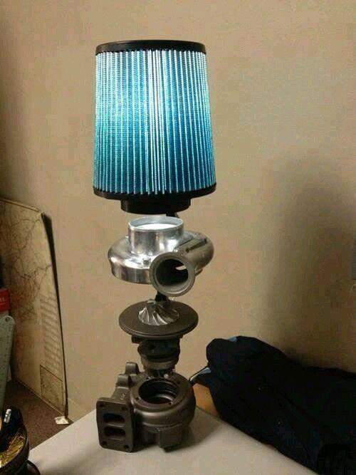 Gearhead DIY lamp - using repurposed turbo and airfilter ...