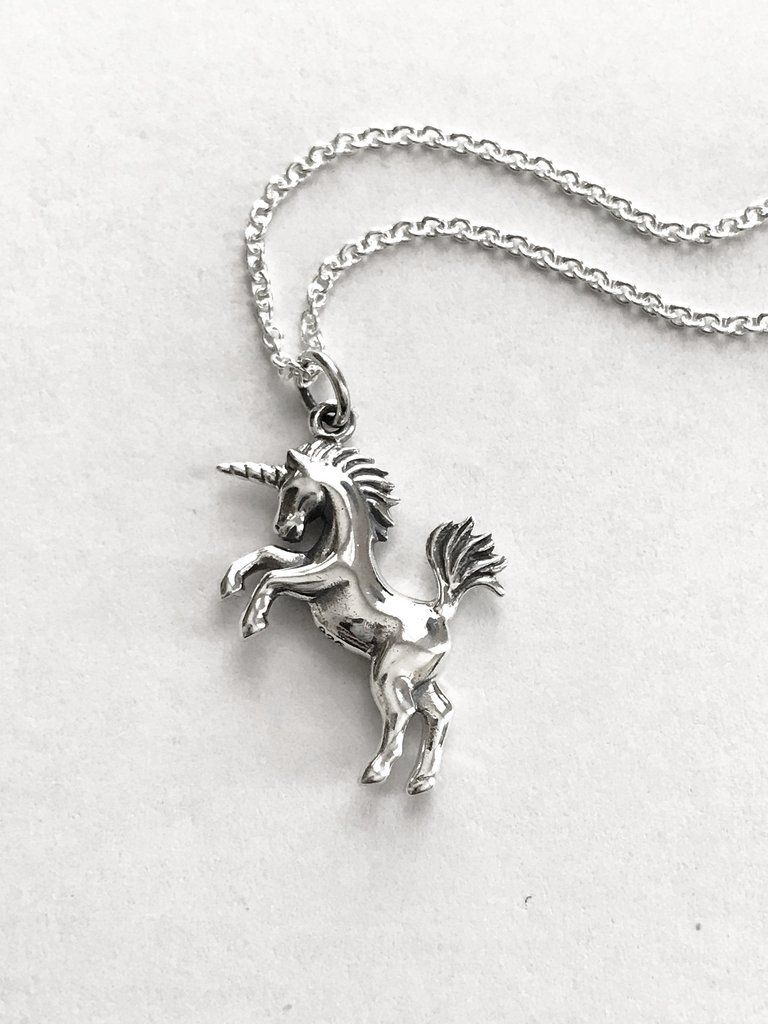 925 Sterling Silver Cut Out Horse Pendant Necklace on Trace Chain Necklaces