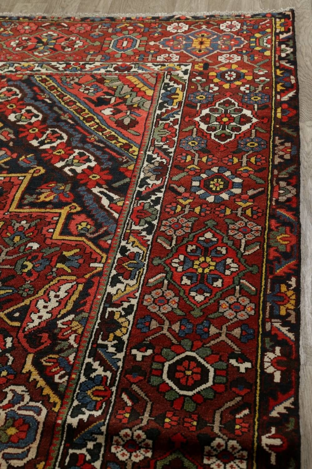 Vegetable Dye Antique Bakhtiari Persian Handmade 11x12