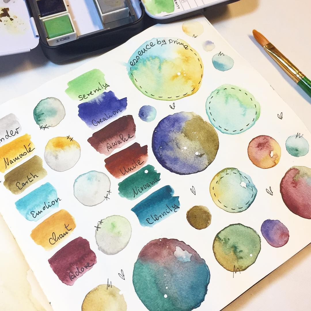 Some Playtime Swatching Testing The Prima Watercolor Essence