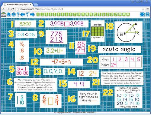 Mountain Math Online 4th Grade Mountain Math Math Worksheets Math Worksheet