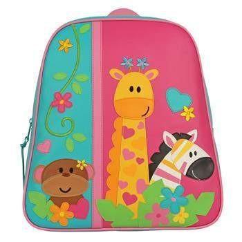 Zoo Theme Monogrammed Girls Stephen Joseph Go Go Backpack