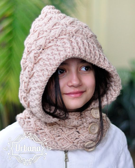 HOODED COWL PATTERN - Hooded Cowl Crochet Pattern - (Toddler, Child ...