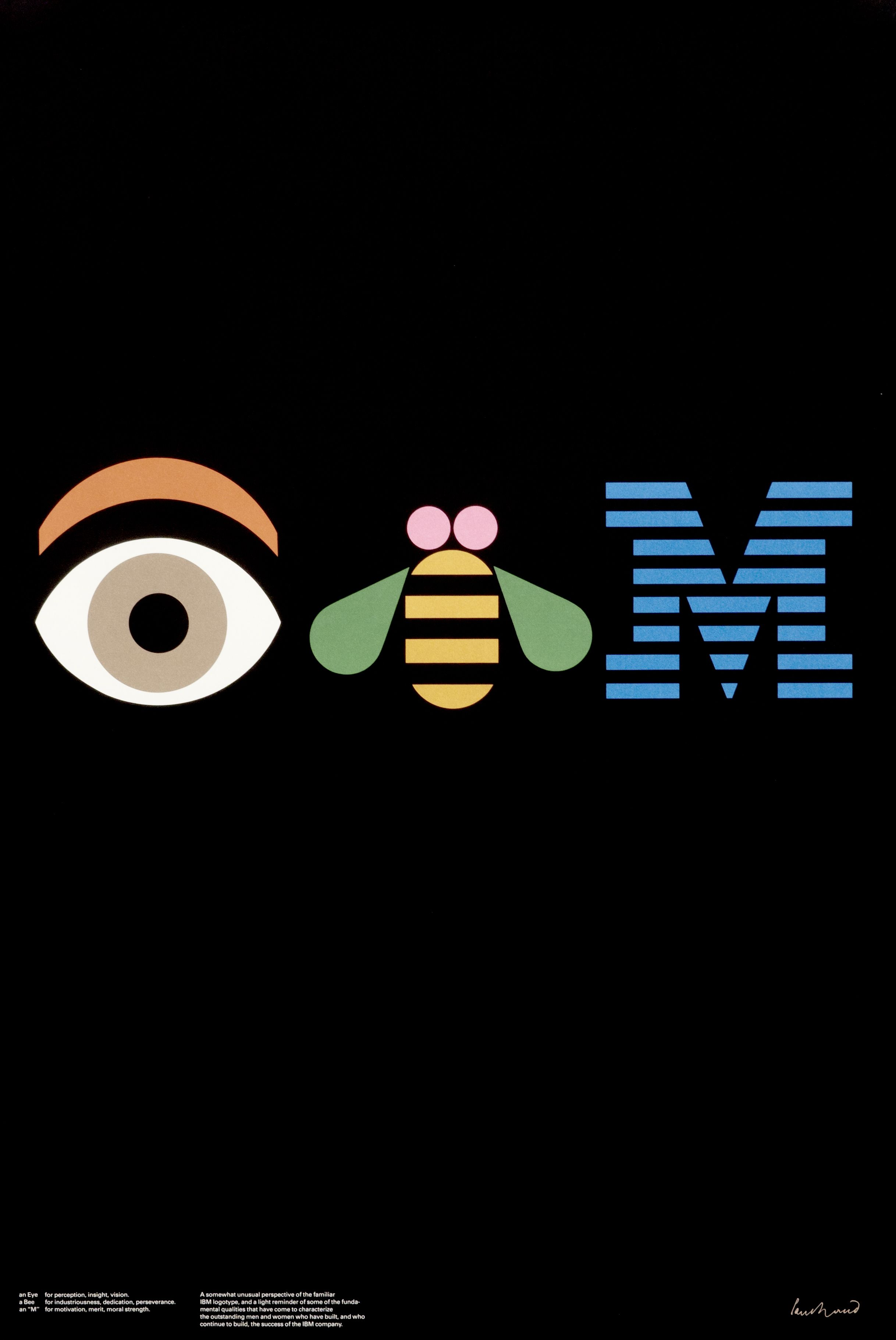 IBM (rebus 1st Printing) by Paul Rand Shop original