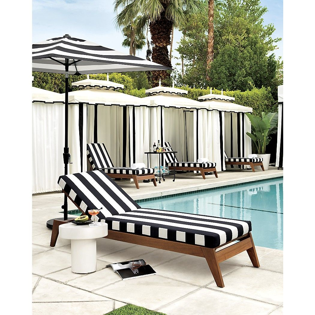 Filaki Black And White Striped Chaise Lounge Reviews In