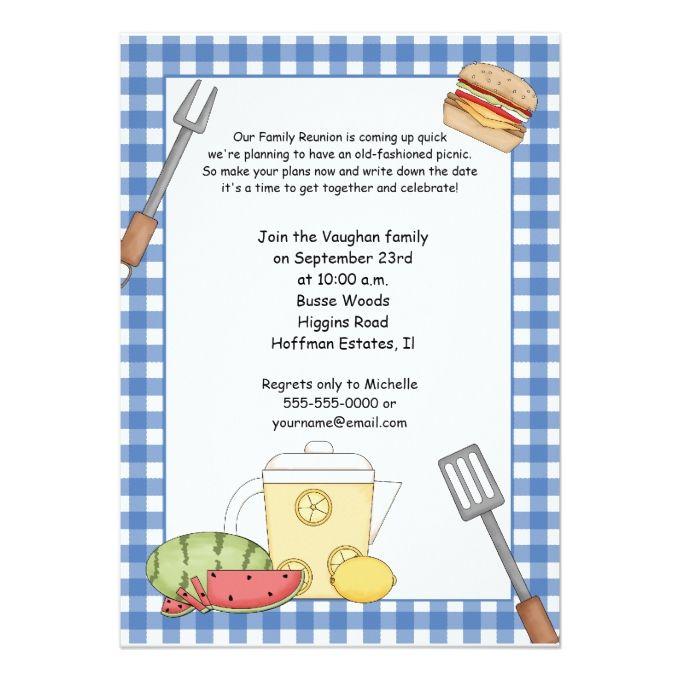 Family Reunion Picnic Invitation 5 - best of sample invitation letter gathering