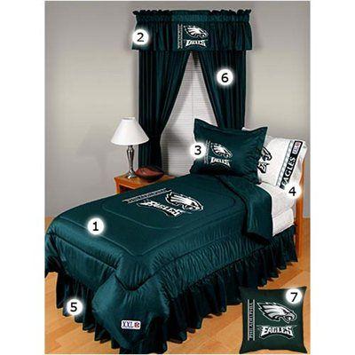 Philadelphia Eagles Queen Size Locker Room Bedroom Set Fanatics