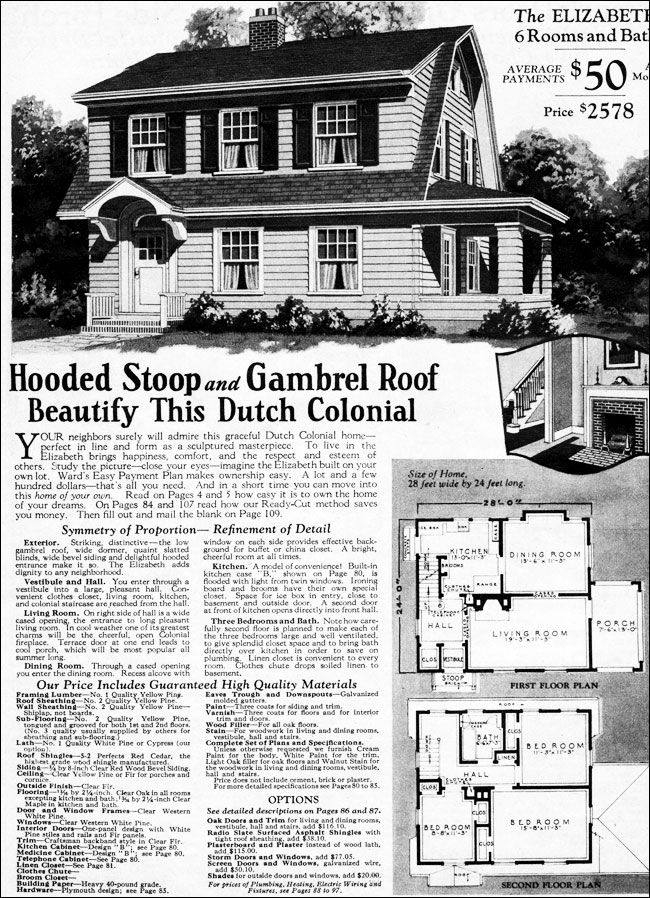 1930 Dutch Colonial Revival Elizabeth Montgomery Ward Dutch Colonial Homes Dutch Colonial Colonial House