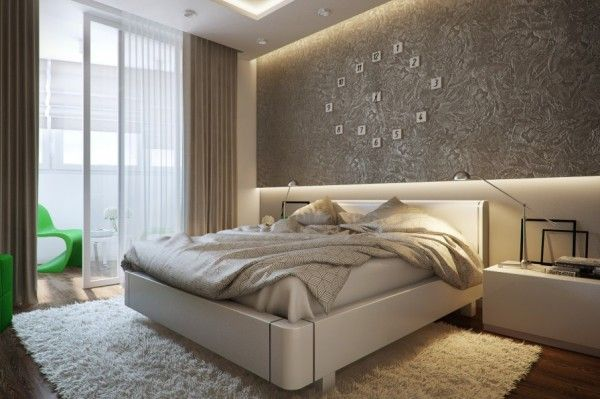 Modern Bedroom Designs 2014 bedroom green bedroom accent cream bedroom white fur rug wallpaper