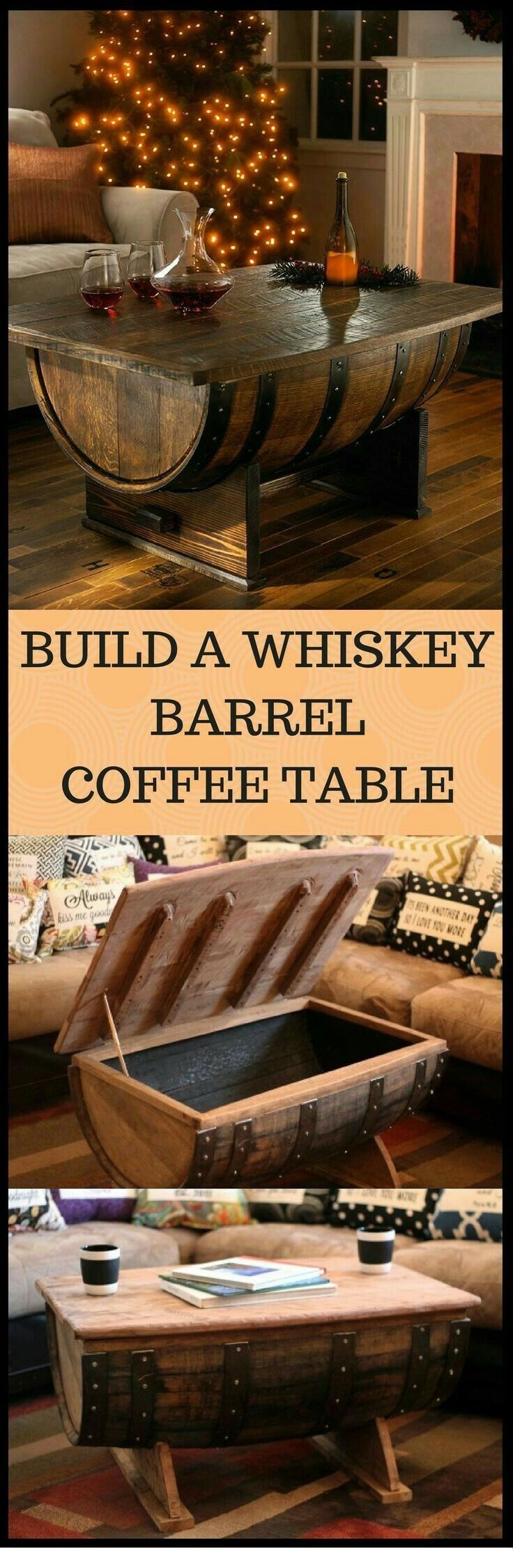 Pin By Austin Easley On Clever Space Saving Ideas Barrel Coffee Table Home Diy Diy Furniture