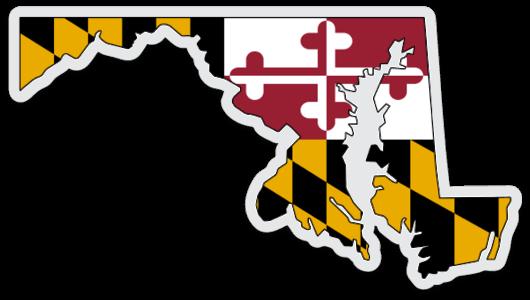 Transparent maryland map sticker
