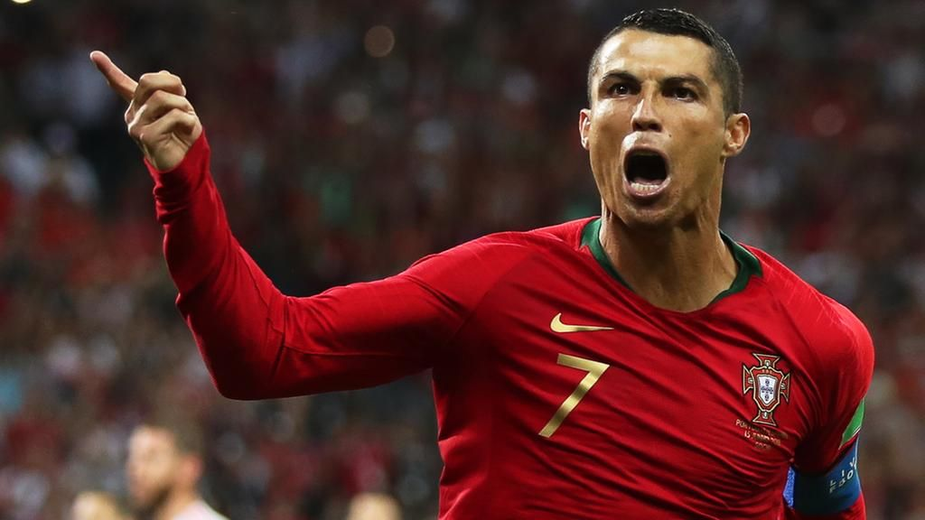 Cristiano Ronaldo Was Portugal S Hero With A Hat Trick Against Spain Friedemann Epa Cristiano Ronaldo Ronaldo First World Cup