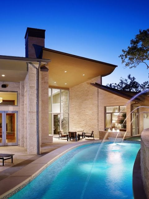 Amazing Snaps Spanish Oaks Home In Austin Texas By Cornerstone Architects See More Hill Country Homes Outdoor Retreat Indoor Outdoor Living