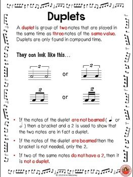 Duplets In Music Music Teacher Teaching Music Ideas Music Lessons