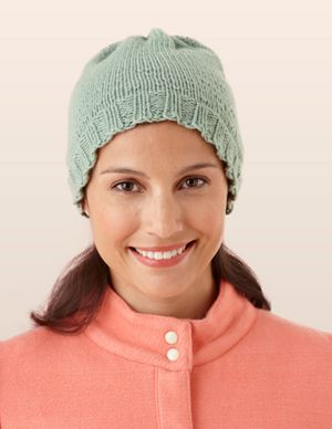 b5ea39df5ea Free Loom Pattern  Martha Stewart CraftsTM MC Merino Loom Knit Sprout Hat