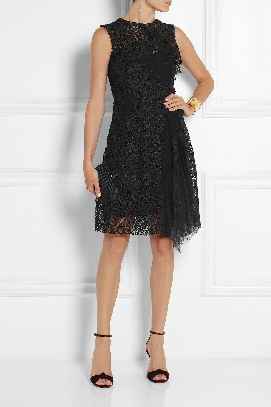 Nina ricci patchwork lace dress fashion pinterest nina ricci