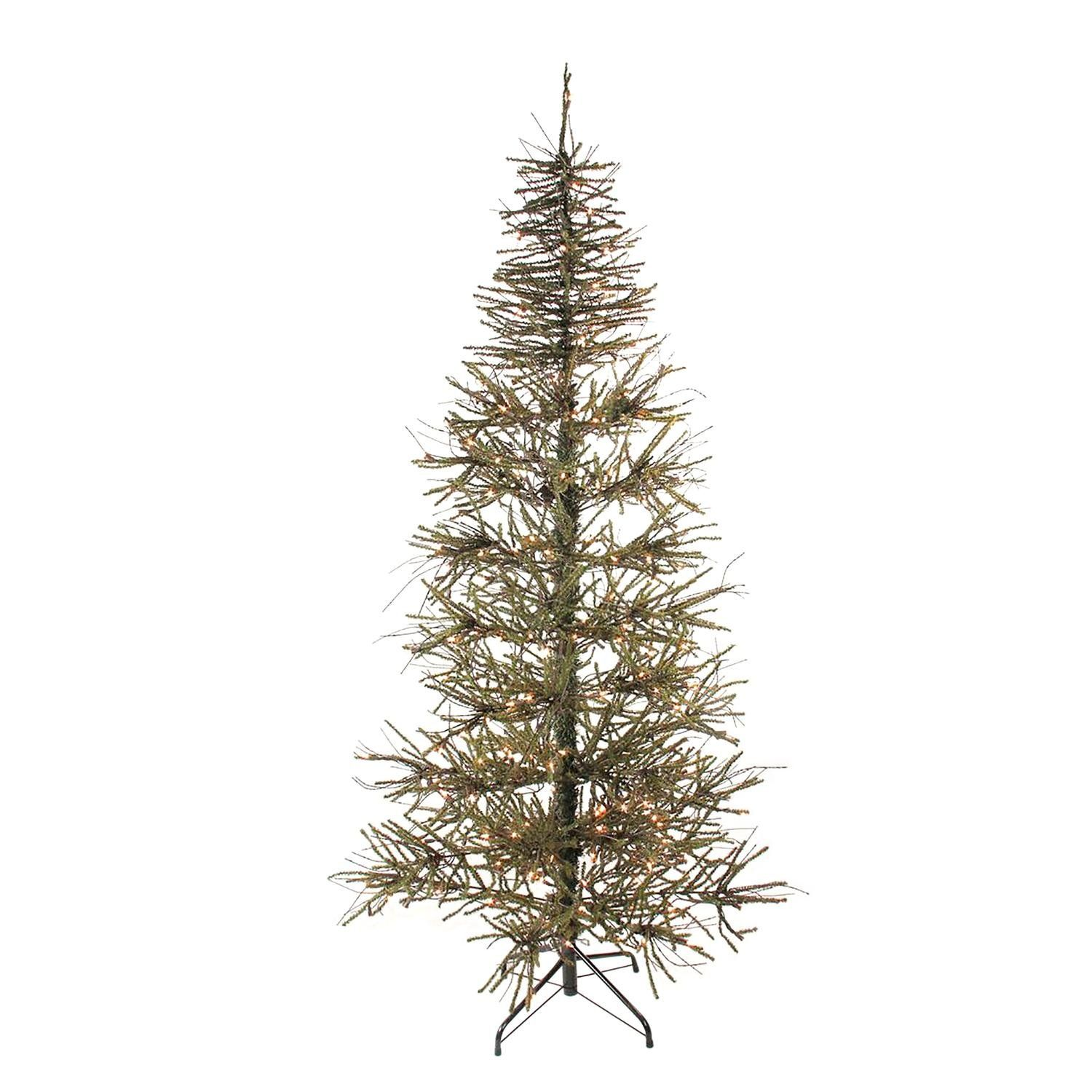 Northlight 6 Pre Lit Slim Warsaw Twig Artificial Christmas Tree Clear Lig Slim Artificial Christmas Trees Christmas Tree Clear Lights Pre Lit Christmas Tree