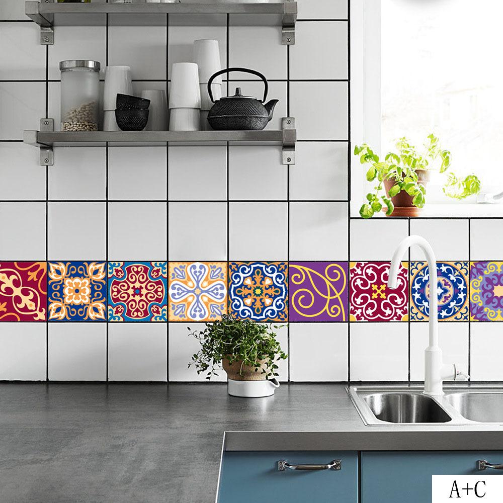 Diy Mosaic Wall Tiles Stickers 3d Kitchen Wall Sticker Bathroom