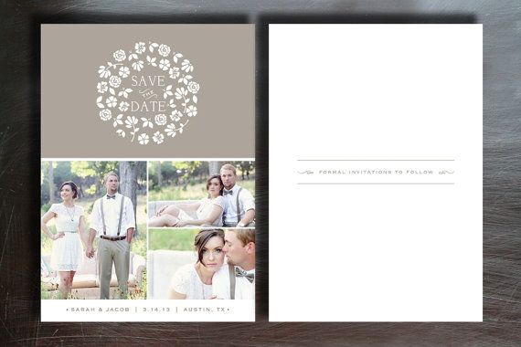 Rustic save the date template for wedding by designbybittersweet rustic save the date template for wedding by designbybittersweet 1500 cheaphphosting Gallery
