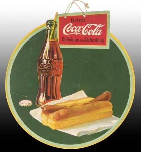 1927 coke die-cut cardboard sign
