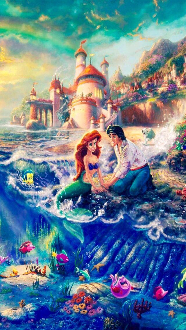 Princess Ariel And Prince Eric Disney Little Mermaid Iphone Wallpaper