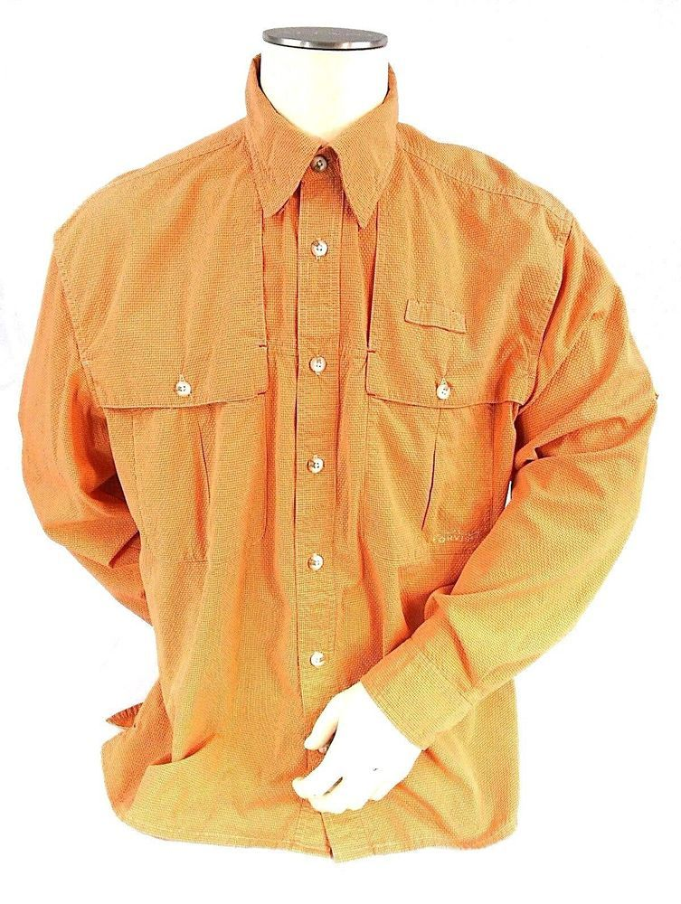 94c1ef2f ORVIS Trout Bum Men's Large Hot Weather VENTED Fishing Shirt Salmon Orange  Color #Orvis #ShirtsTops