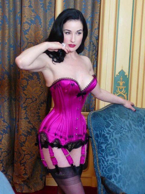 f48867168a6 Dita Von Teese in a Mr Pearl( ) corset