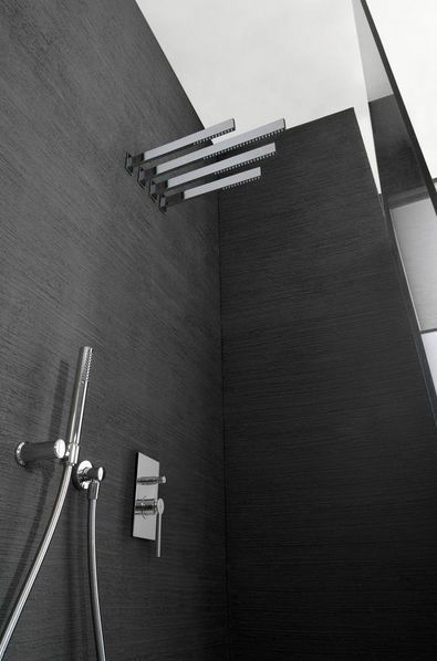 Wall-mounted shower head / fixed - TIME: 6580 by Marco Pisati ...