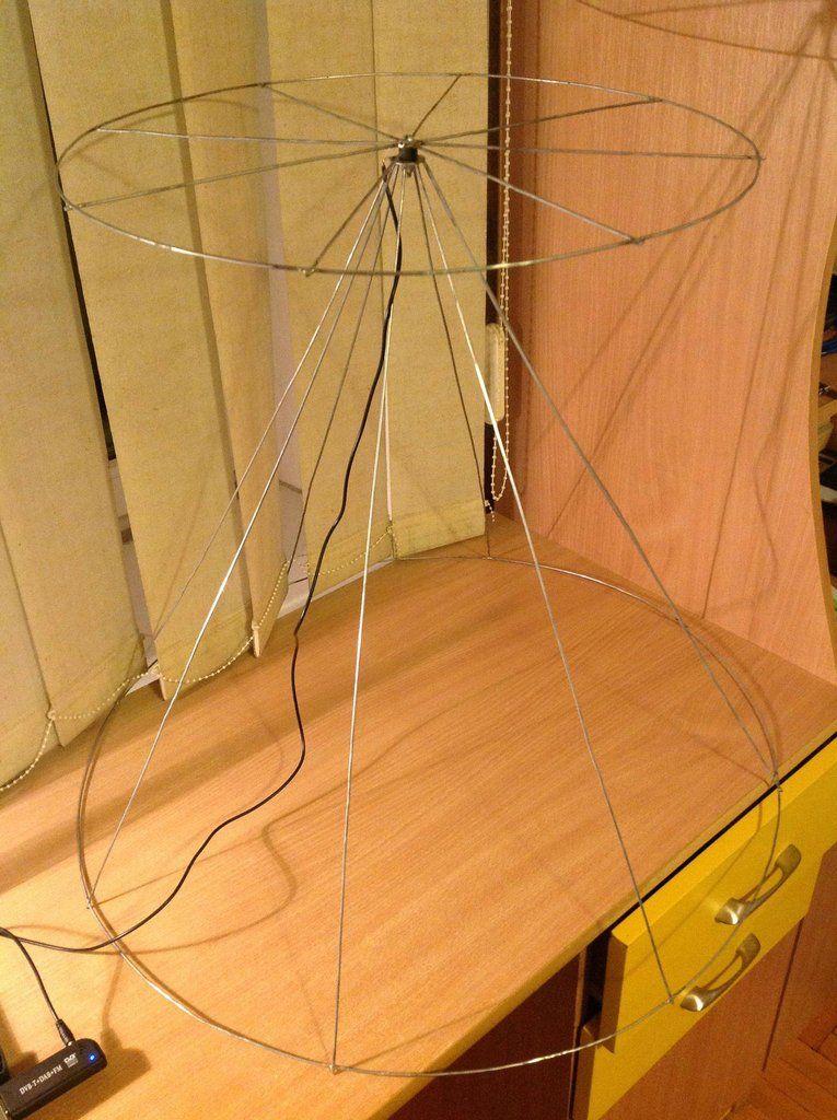 Homemade Wire Coat Hanger Discone   Radio Receivers, Antennas and ...