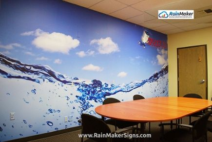 rainmaker signs conference room wall mural fast water heater bothell
