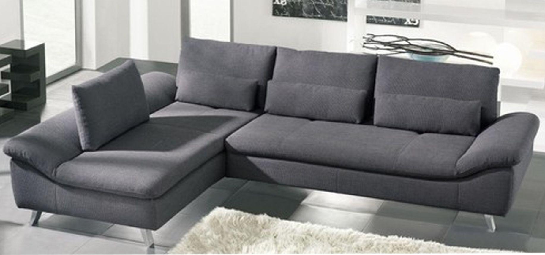 Marvelous-Grey-Schillig-Sofa-Minimalist-Living-Room-Cream-rug.jpg ...