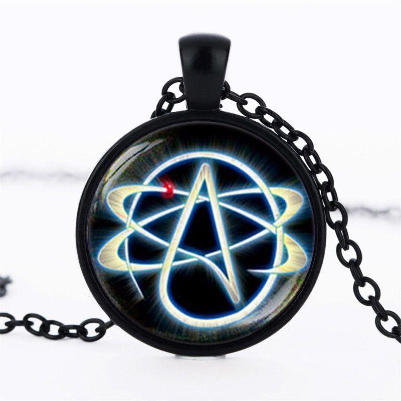 19 Colors Optional Atheist Symbol Necklace Atom Pendant Atheist