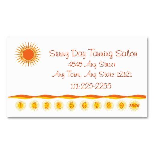 Tanning salon customer loyalty punch card loyalty cards card d45d097a4437f6e09c849192e49ad8a7g colourmoves