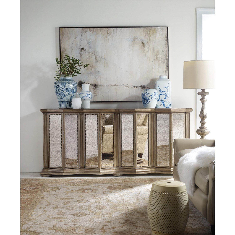 Hooker Furniture 638 Melange Majesty Credenza in Gold