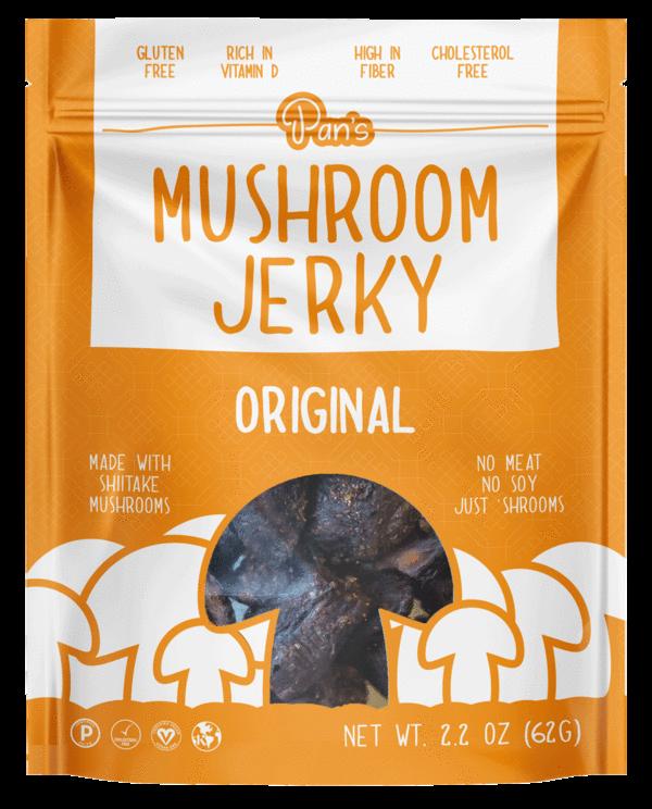 Pan's Mushroom Jerky Shop Flavors Vegan Shiitake
