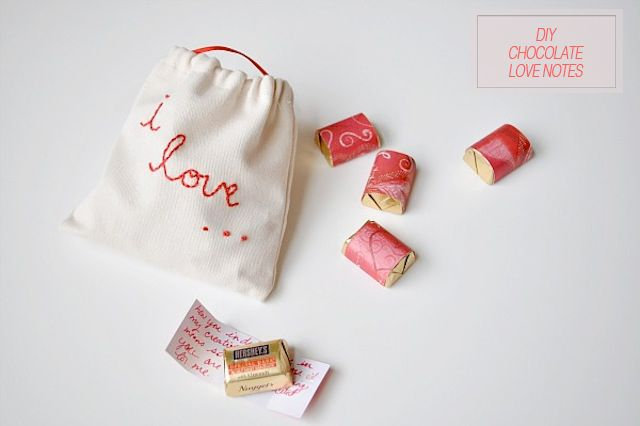 Oh the lovely things_ Valentives _ DIY  I Love you bags fileld with DIY wrapped chocolates