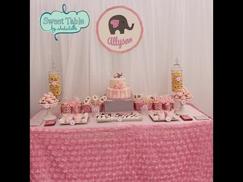 Baby Shower Guide Diy Snacks Decorations Photo Booth Props And More Youtube Candy Buffet Wedding Dessert Table Decor Dessert Table