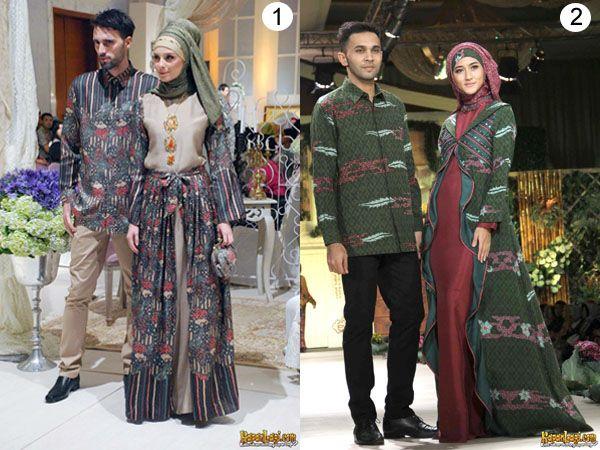 Mencoba Berjilbab Baju Batik Muslim Model Baju Wanita Model Pakaian Batik