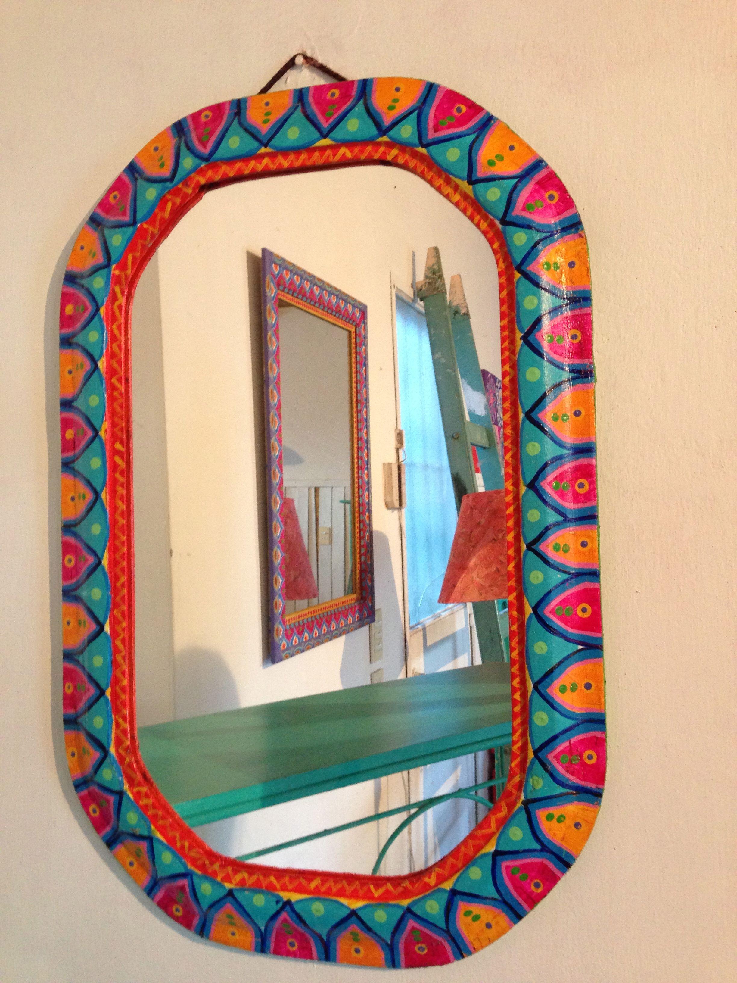 ESPEJO PINTADO A MANO VINTOUCH | Ideas para el hogar | Pinterest ...
