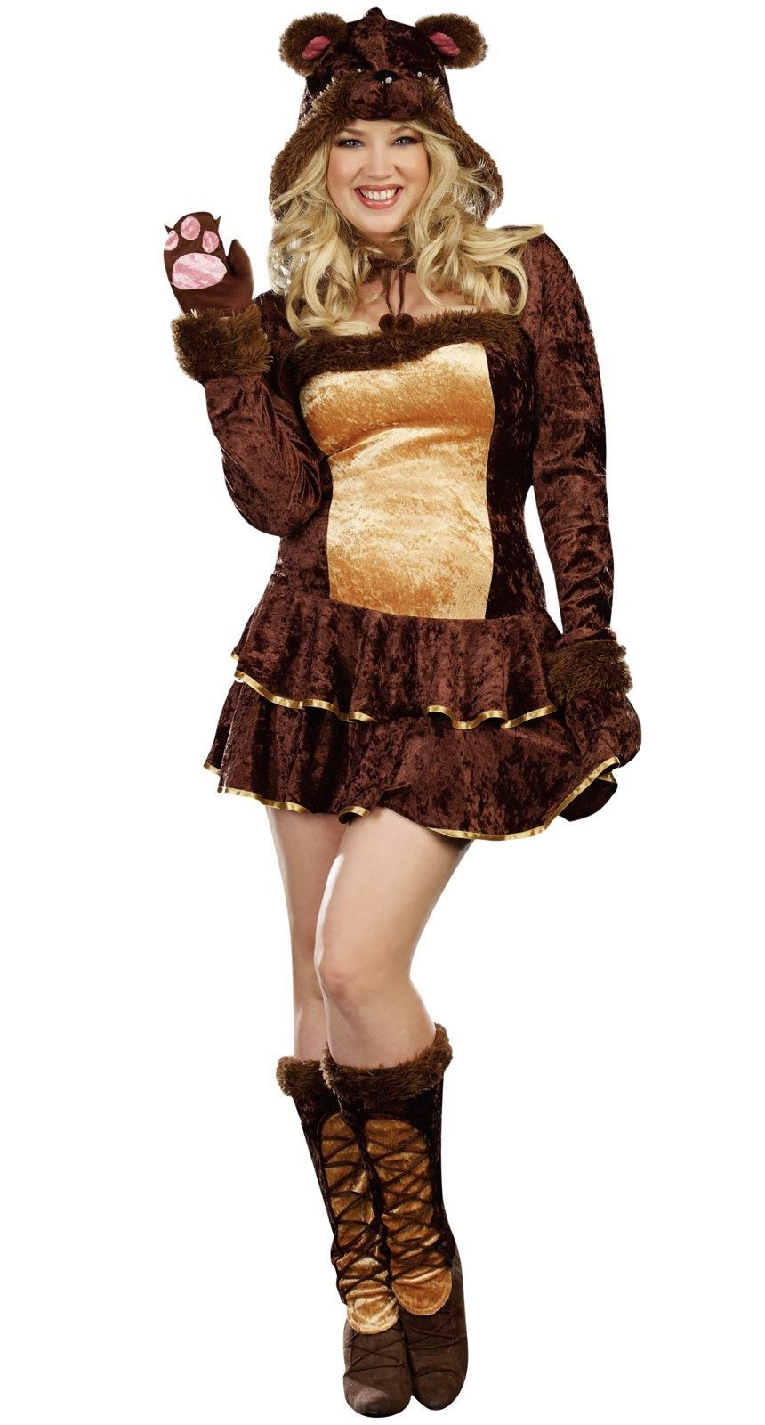 Bear Hugs Adult Plus Costume from
