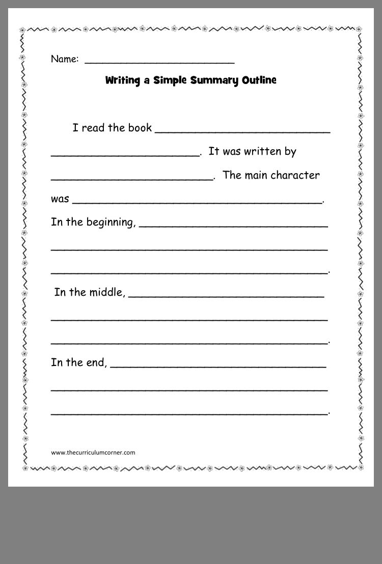 Pin by mary rives on 2nd grade writing reading outline