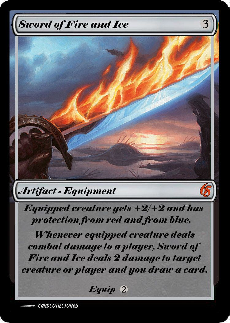 Sword of Fire and Ice PROXY - Great for Commander, Vintage, casual