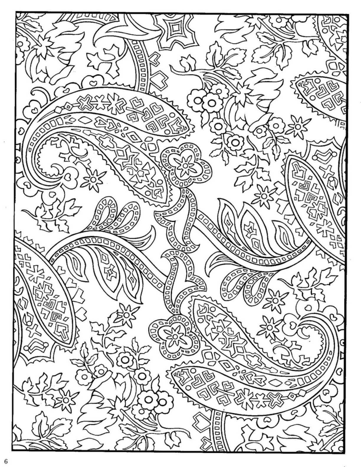 paisley pattern colouring book  Paisley coloring pages, Designs
