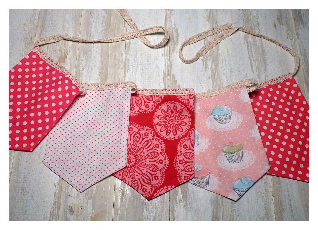 Banderines confeccionados con telas importadas combinados - Cintas para decorar ...
