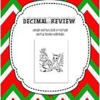 color by number equations   Decimal Review: Holiday Color By Number $2.00